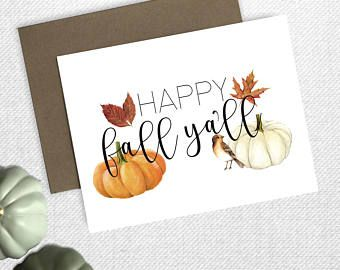 Fall Greeting Card, Autumn Greeting Card, Holiday Card, Halloween Greeting  Card, Funny