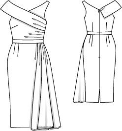 Schnittmuster: Vintage Kleid - Abendkleid - Cocktailkleider - Kleider - Damen - burda style