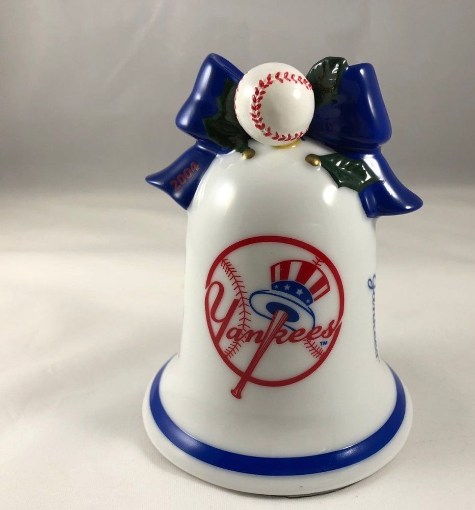 NY Yankees MLB Bell Christmas Ornament 2004 Danbury Mint ...