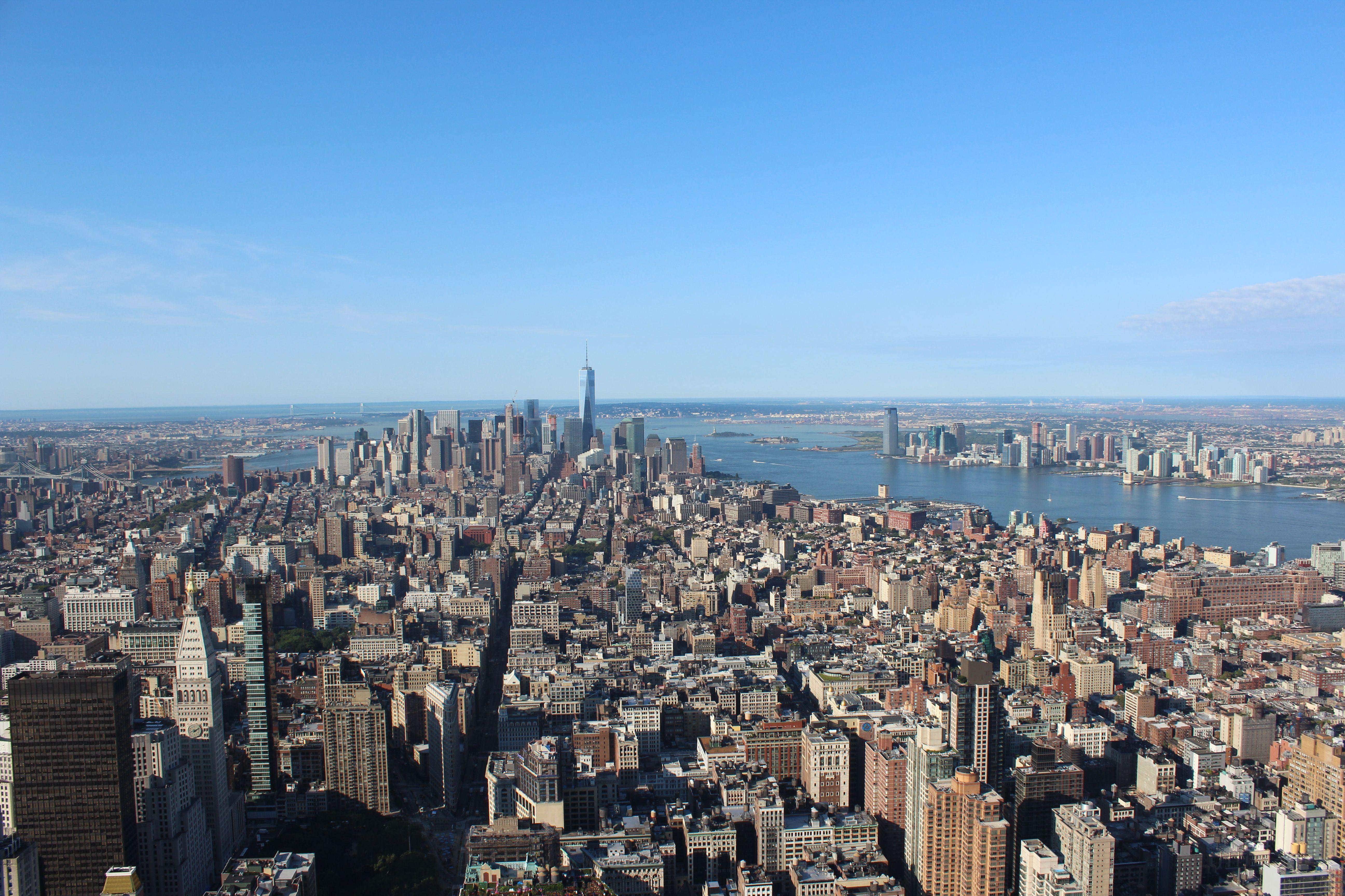 Manhattan. Empire State. desde la torre de observación: Piso 86 ( 320 mts)
