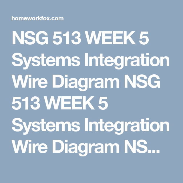 Nsg 513 Week 5 Systems Integration Wire Diagram