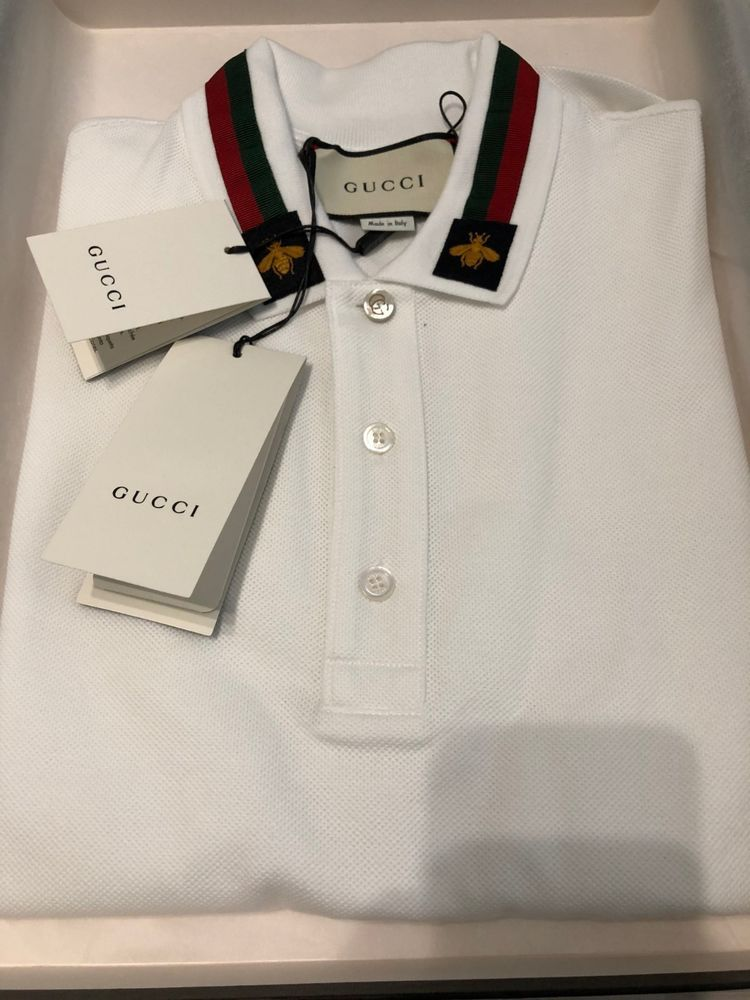 fcfafbd45c4 Gucci Cotton Polo Web and Bee Size- Medium T-shirt  fashion  clothing   shoes  accessories  mensclothing  shirts (ebay link)