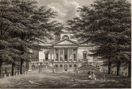 In the summer of 1798, they were invited to Chiswick House in London