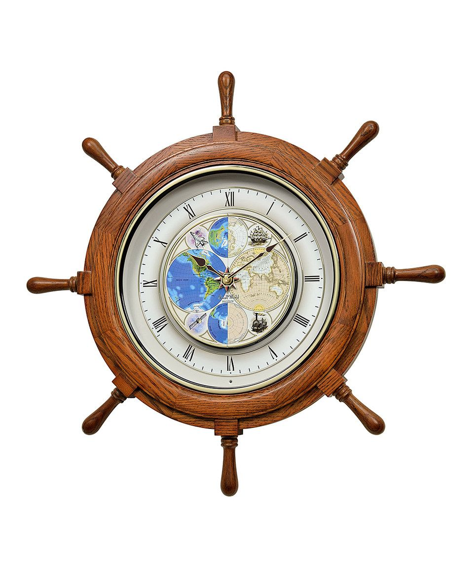 Another great find on zulily time trip musical ship wheel oak another great find on time trip musical ship wheel oak swarovski crystal wall clock by rhythm clocks amipublicfo Choice Image
