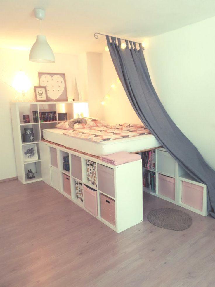 Ein Hochbett Aus Ikea Kallax Regalen Kinderzimmer Zimmer Einrichten Jugendzimmer Regal Kinderzimmer Ikea Kallax Regal