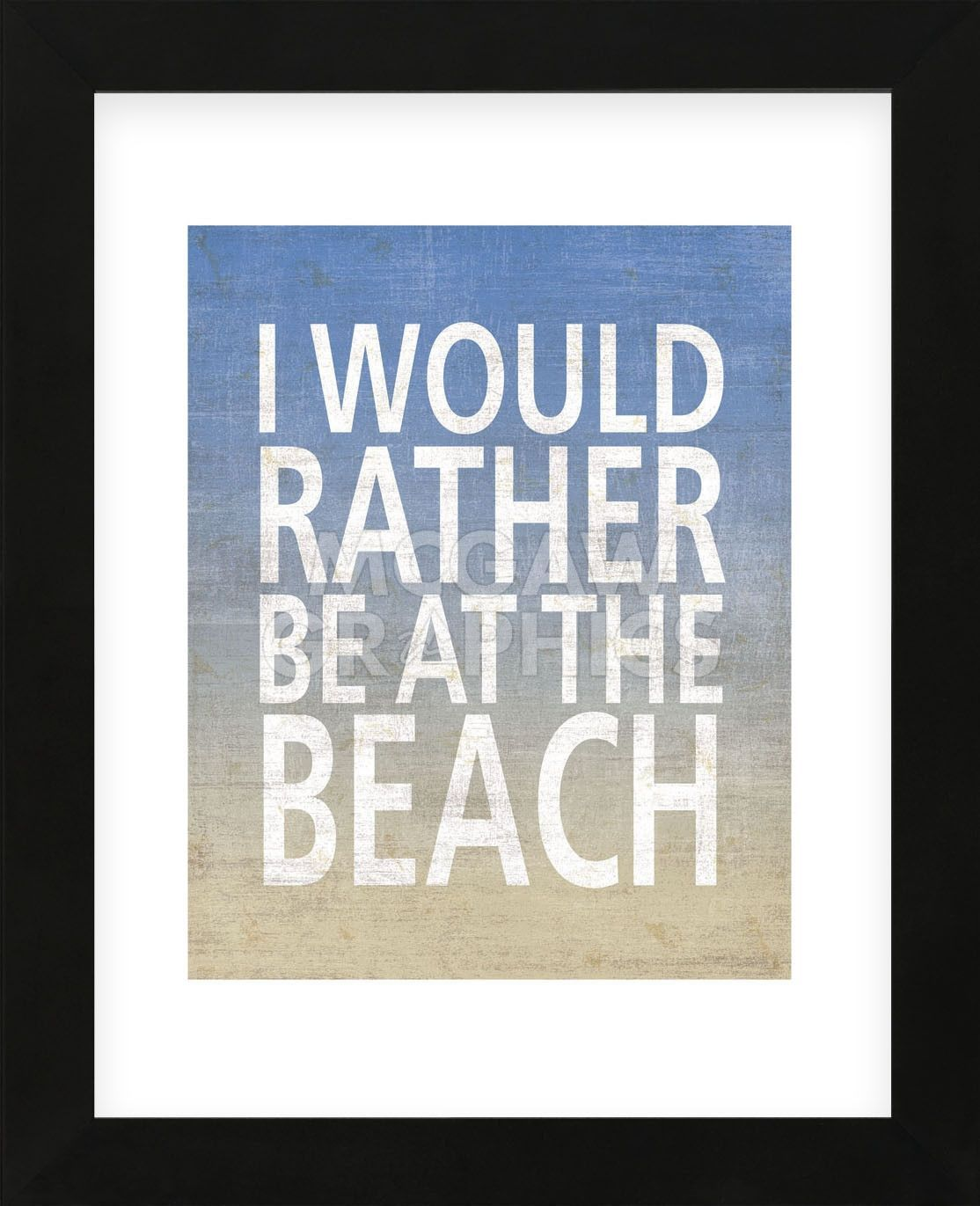 I Would Rather Be At The Beach (Framed)