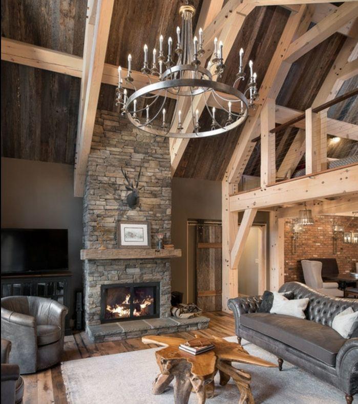 1001 conseils et id es pour am nager un salon rustique salon pinterest salons rustiques. Black Bedroom Furniture Sets. Home Design Ideas