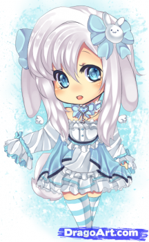 How To Draw The White Rabbit Step By Step Chibis Draw Chibi Anime Draw Japanese Anime Draw Manga Free Online Drawing Tutor Bonecas Lindas Bonecas Sonhos