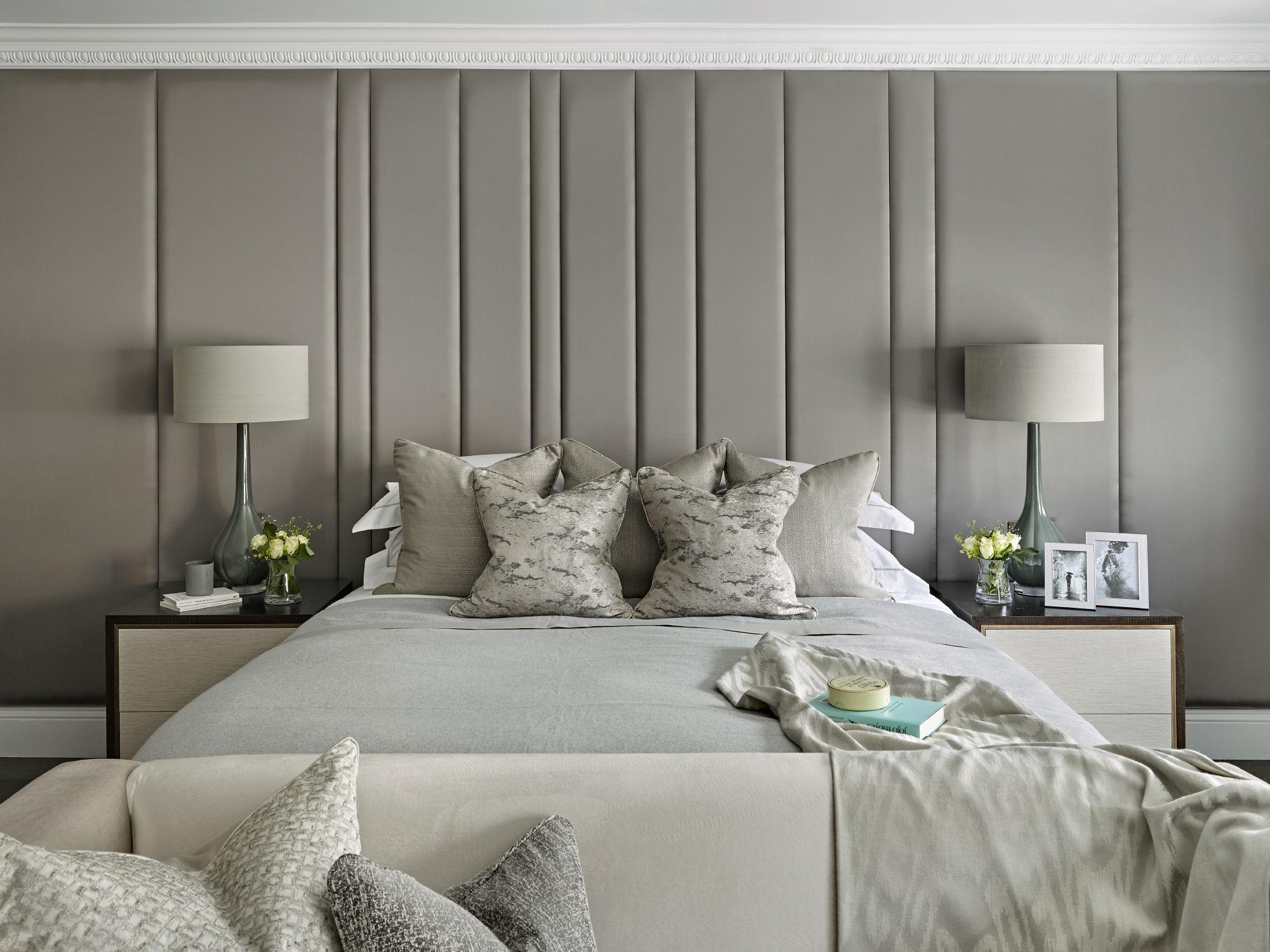 Bespoke upholstered wall, headboard, upholstered panels ...