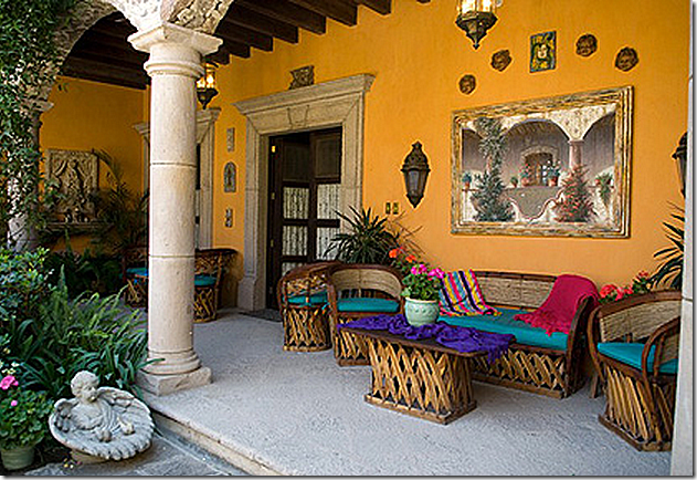 Pin by ginger kritz on patios gardens and exteriors for Mexican porch designs