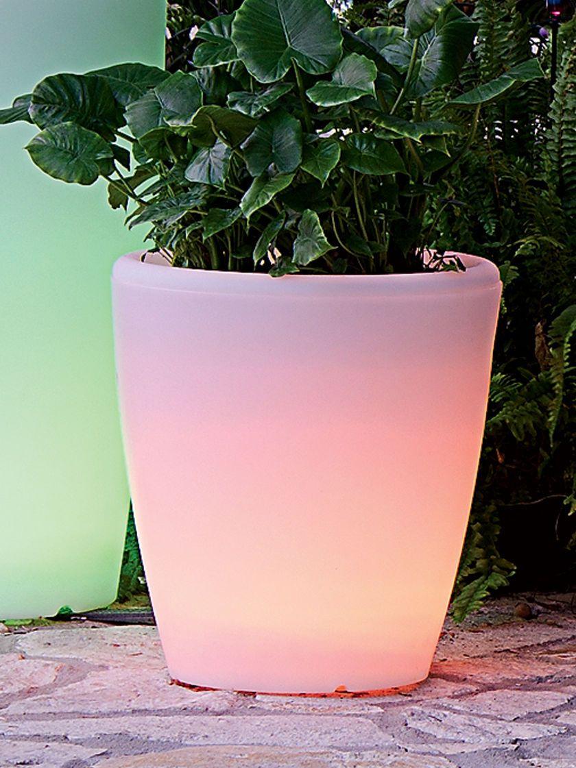 Solar Illuminated Planter Medium Solar Lights Garden Planters Outdoor Planters