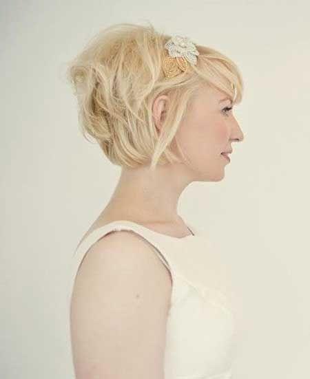 Simple Short Blonde Hairstyle Short Wedding Hair Short