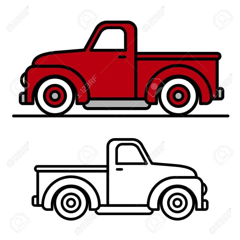 18 Cartoon Drawing Of Truck Cartoon Drawing Drawingpencilwiki Com Christmas Red Truck Vintage Pickup Trucks Red Truck
