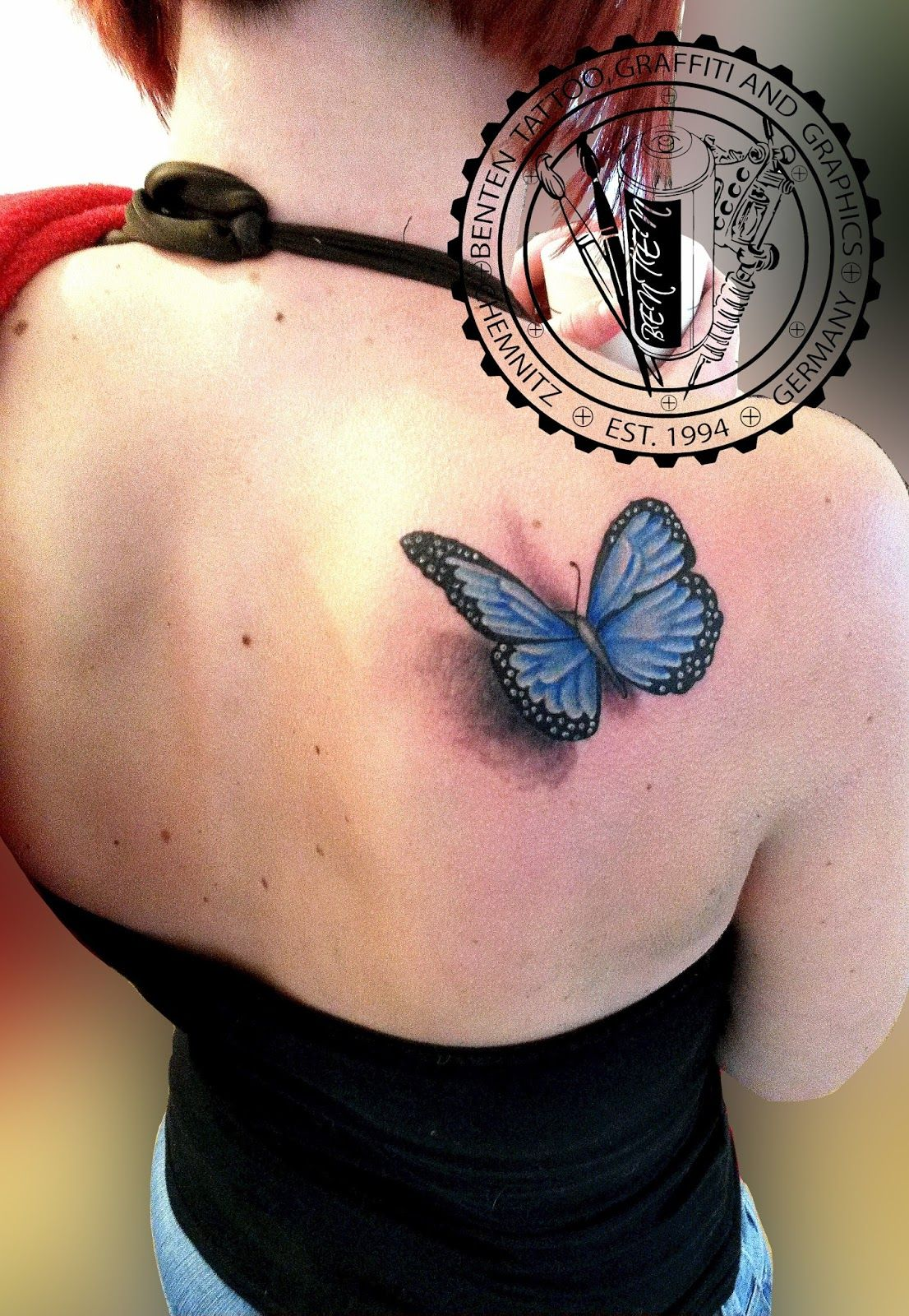 butterfly tattoo --- Benten Tattoo Chemnitz. Der Tätowierer für ... - Tattoo Studio Chemnitz