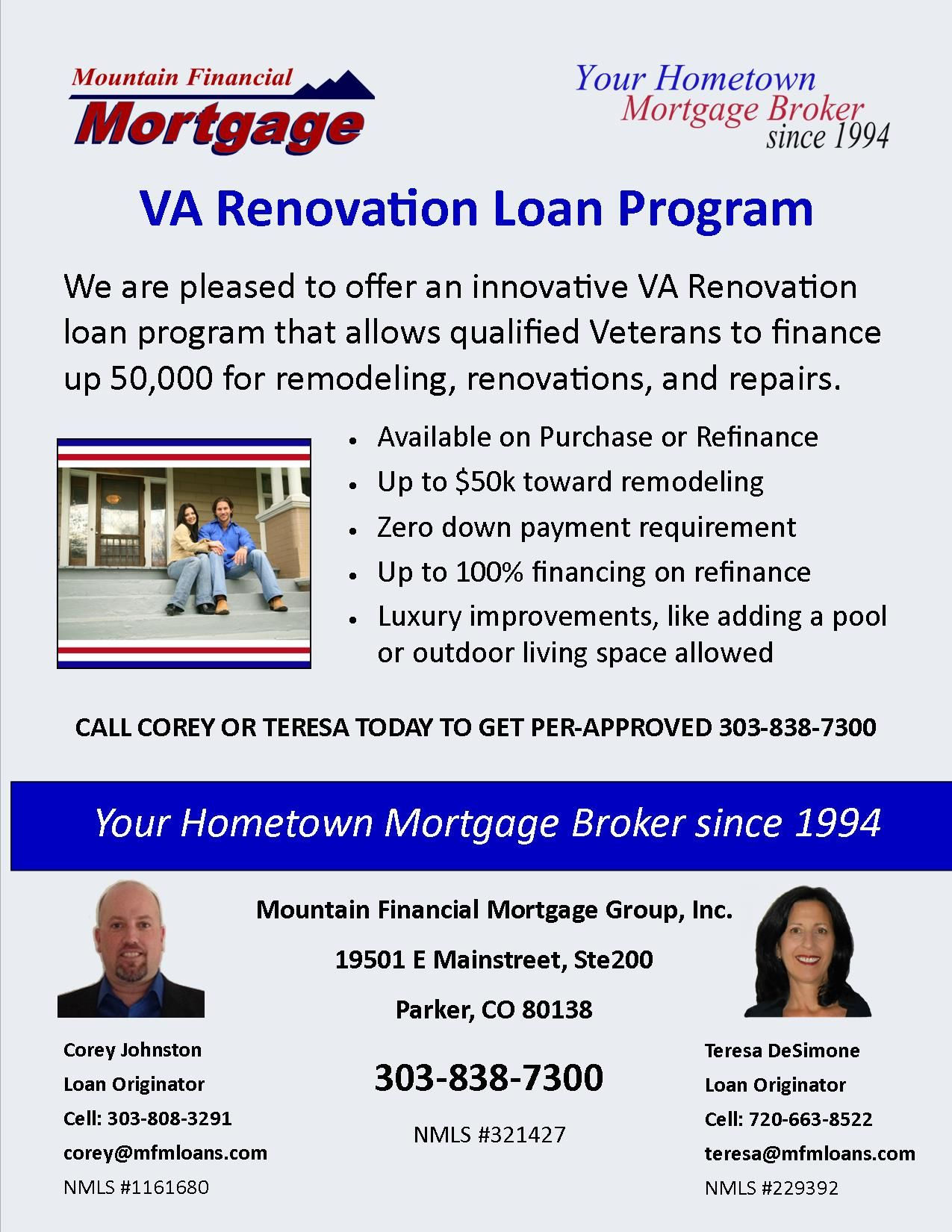 We Are Pleased To Offer An Innovative Va Renovation Loan That Allows Qualified Veterans To Finance Up 50 000 Renovation Loans Home Loans Home Improvement Loans