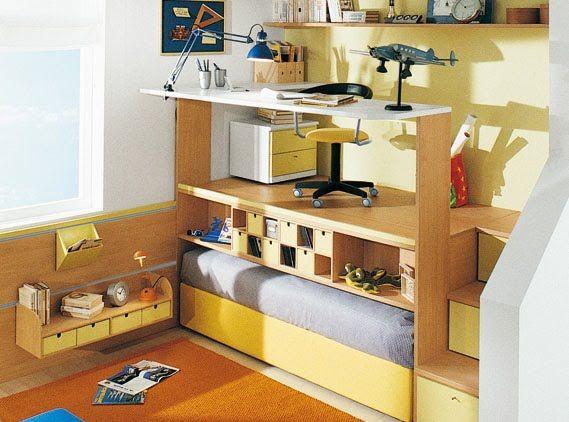 Medidas de seguridad para dormitorios infantiles con for Litera escritorio debajo