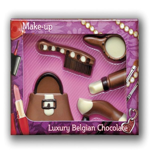 Milk Chocolate Make Up Kit £7.99 FREE UK Delivery.  http://www.ragstorichesuk.com/gifts/confectionery/milk-chocolate-make-up-kit-detail