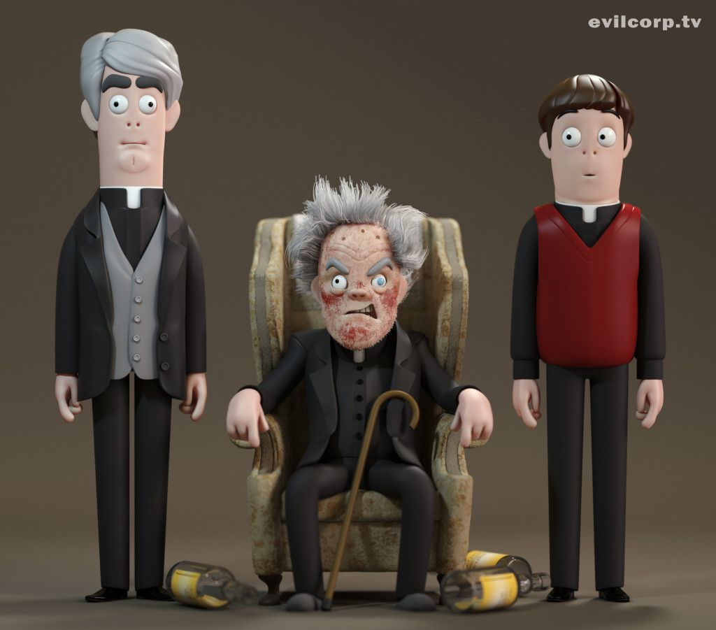The Cast Of Father Ted Feck Art Art Father Ted