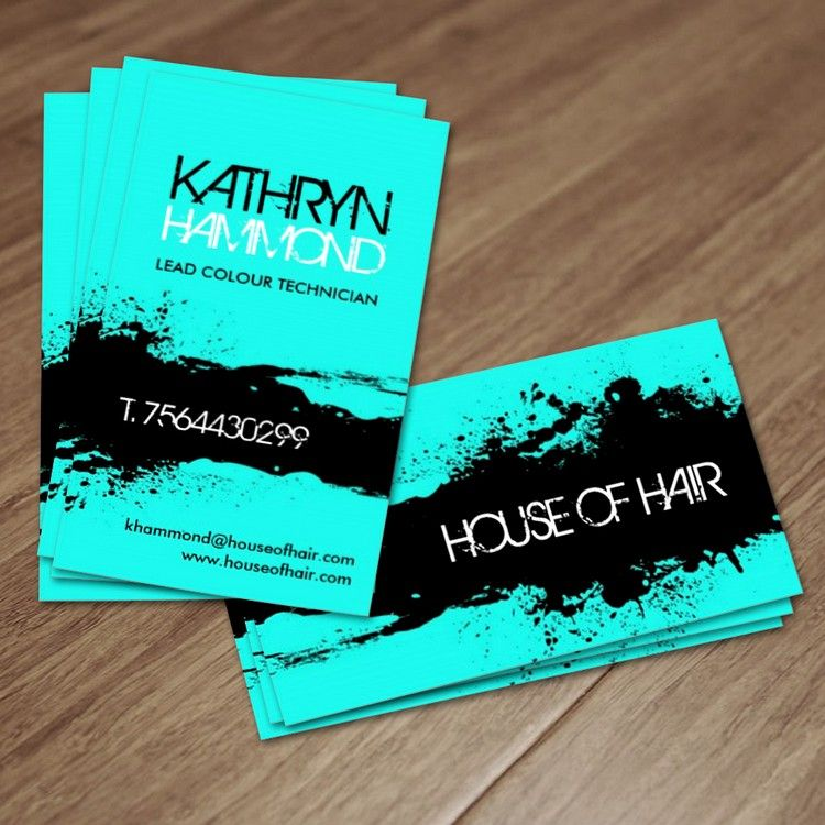 Salon Business Cards | Card templates, Business cards and Salons