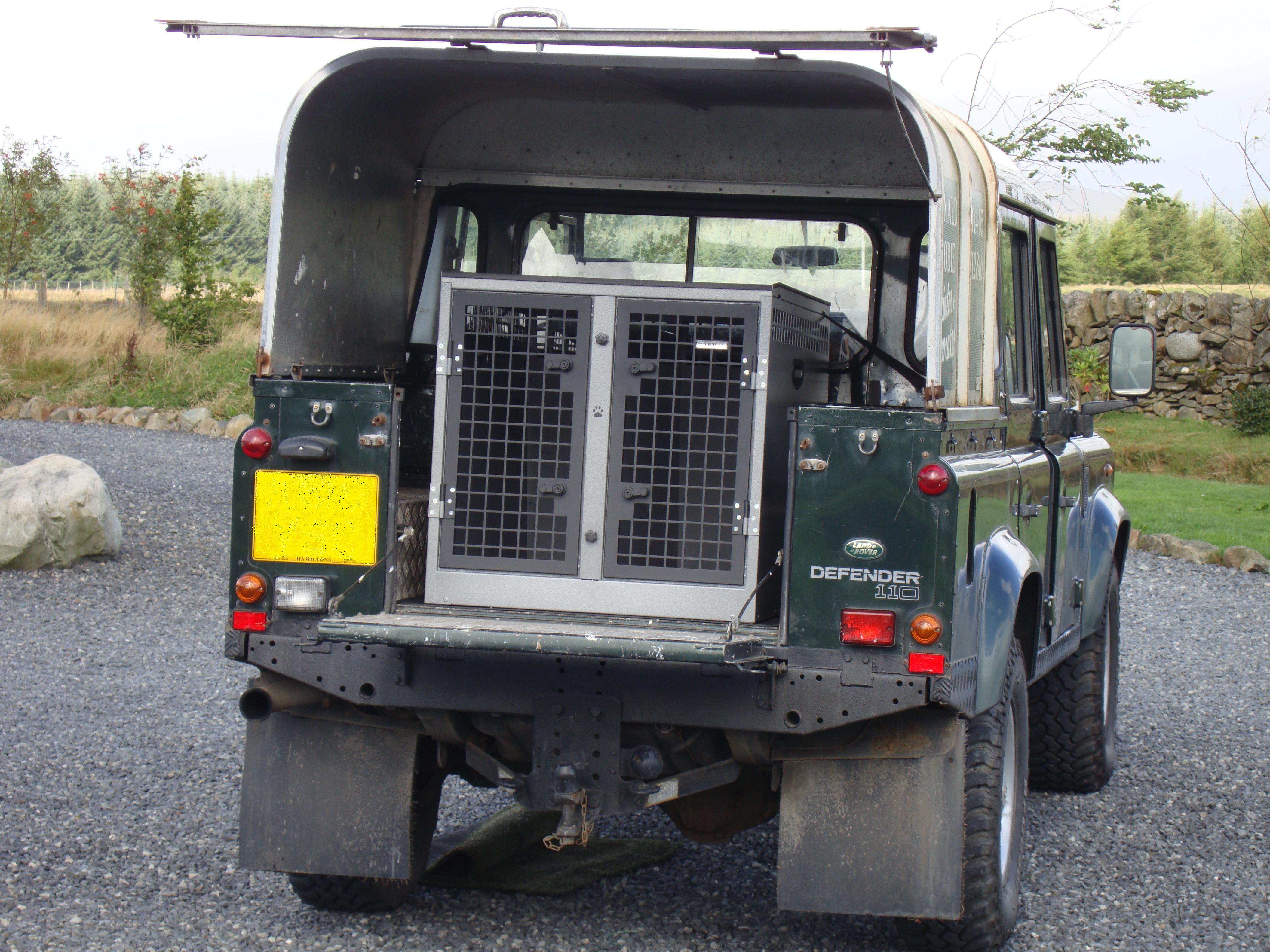 Transk9 B8 Land Rover Defender Dog Transit Box Dog Cage