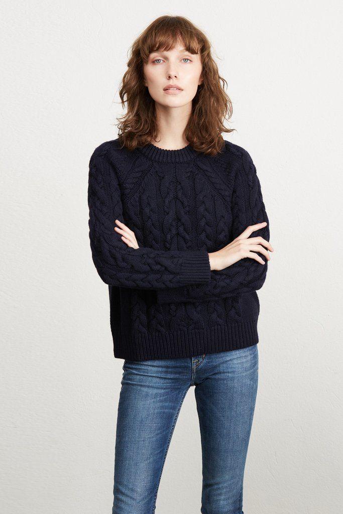 9da736e28a66e3 Kendra Cable-Knit Sweater