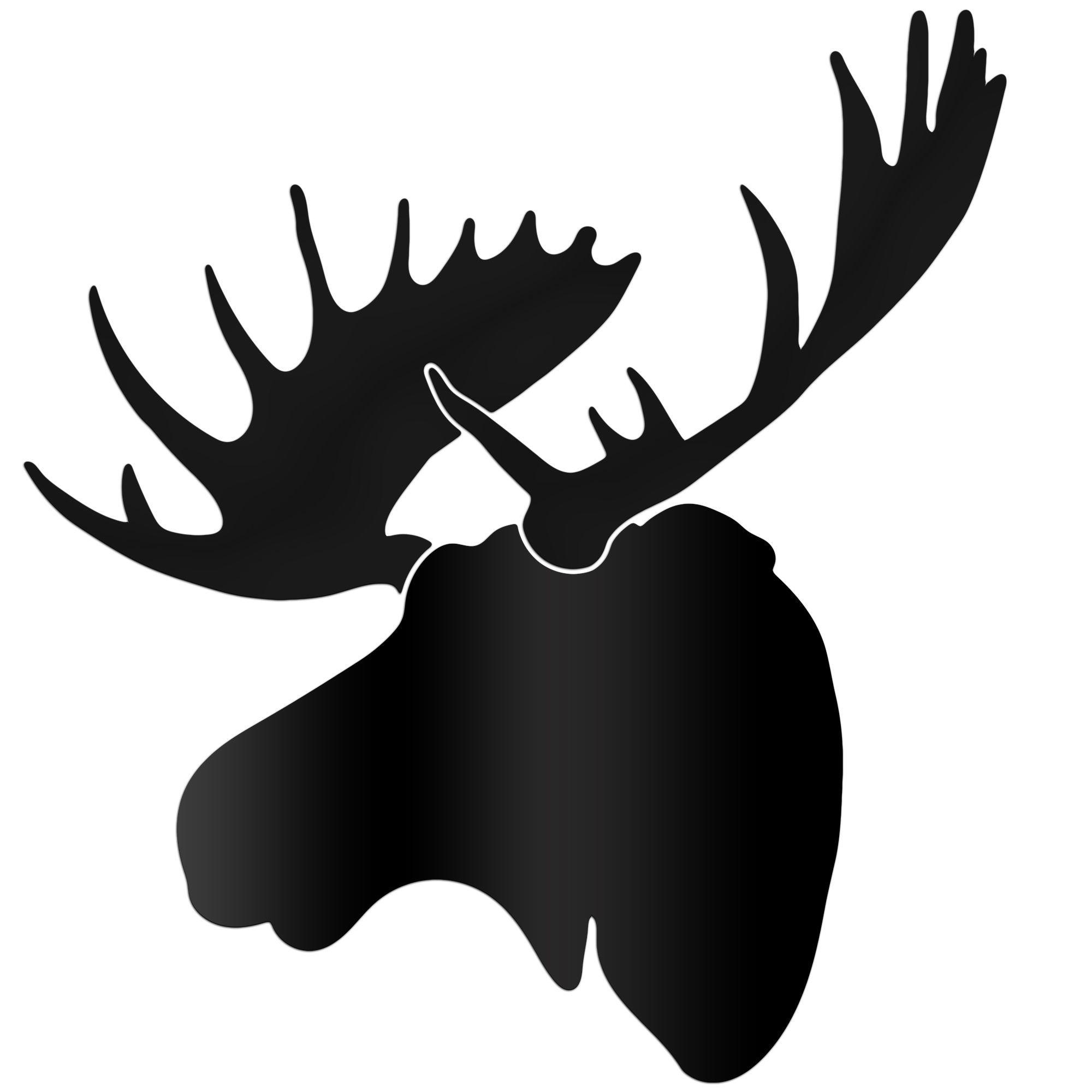 Adam Schwoeppe Midnight Moose Large Black Moose Silhouette Art