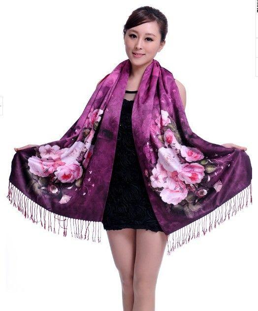 Pas cher Top qualité double face brossé foulard de soie 100% foulard de soie  cape double épaississement printemps automne hiver modèle long wrap, Acheter  ... 0872a929eb0