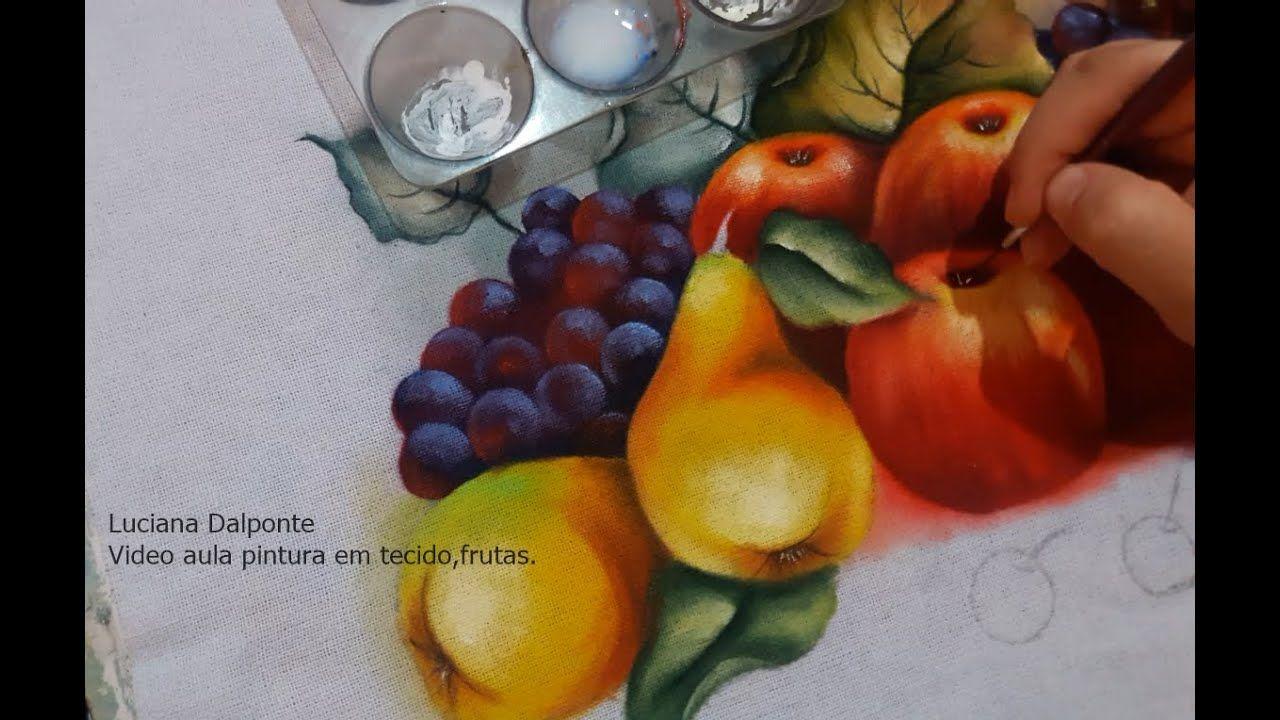Pintura Em Tecido Frutas Luciana Dalponte Com Imagens Pintura