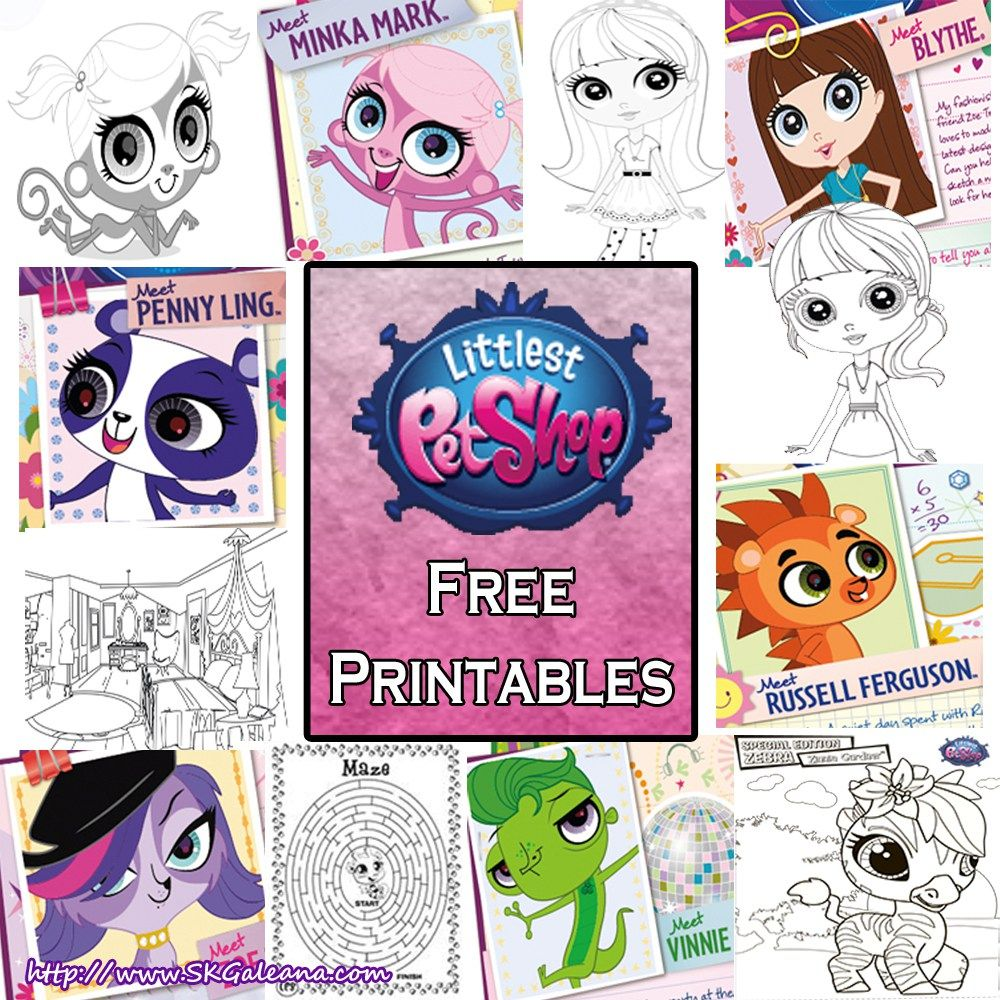 Littlest Pet Shop Free Printables Coloring Pages And Activities