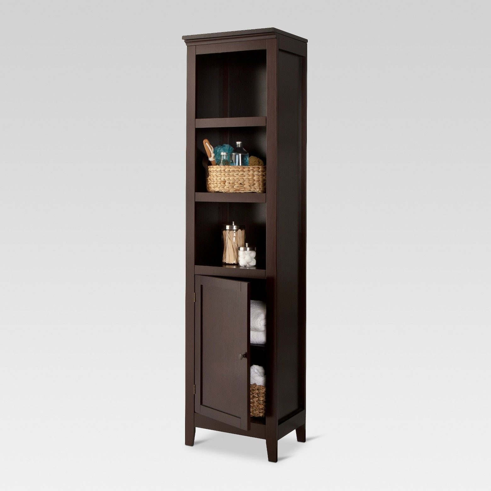 Carson Narrow Bookcase With Door Bookcase Horizontal Bookcase