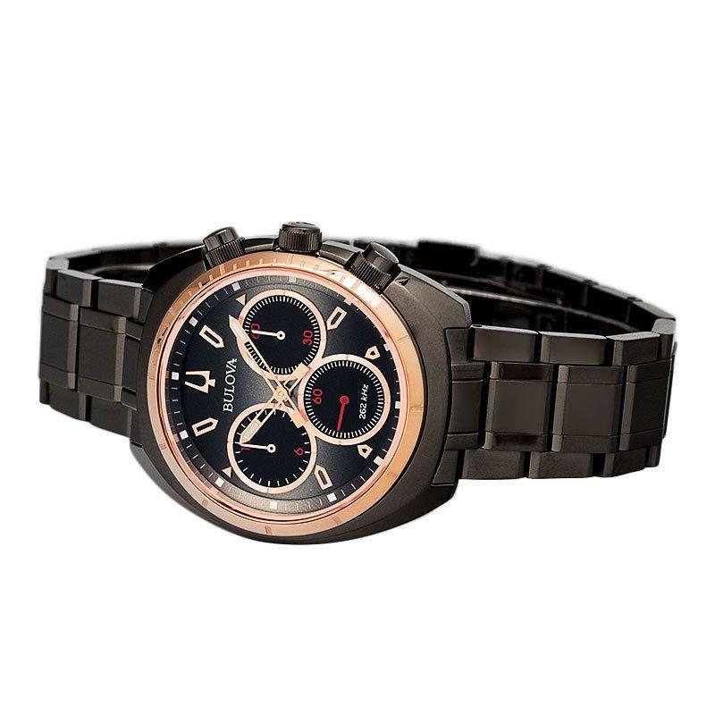 b70ea2b3a Bulova CURV Chronograph Gunmetal Stainless Steel Watch 98A158 | Mens ...