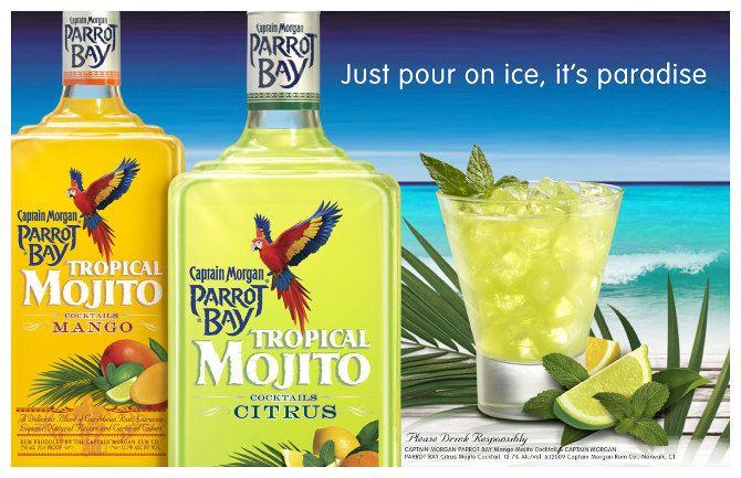 Captain Morgan Parrot Bay Mojito Mojito Vodka Bottle Vodka