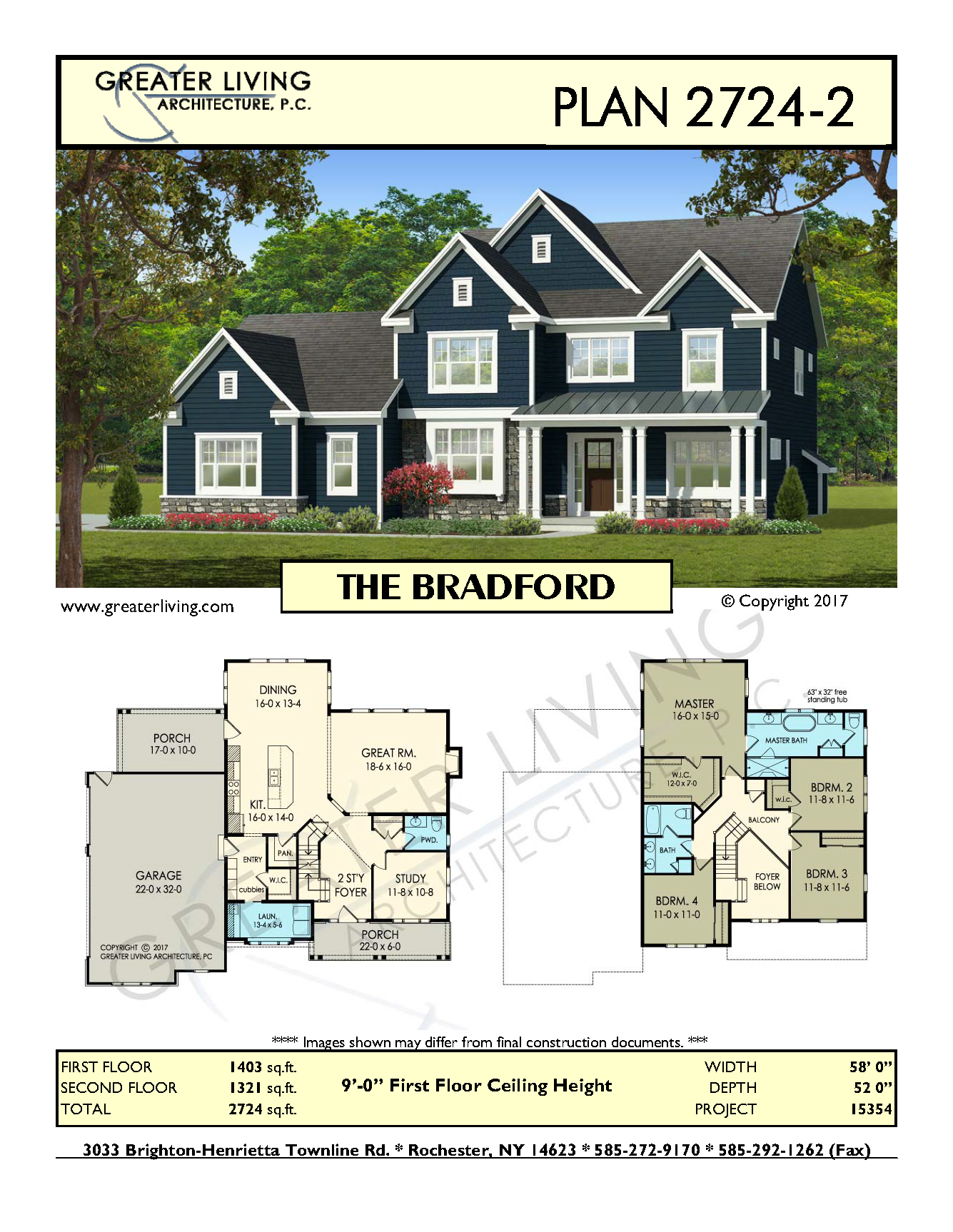 Plan THE BRADFORD Two Story House Plan Greater Living - Two 2 story houses and homes