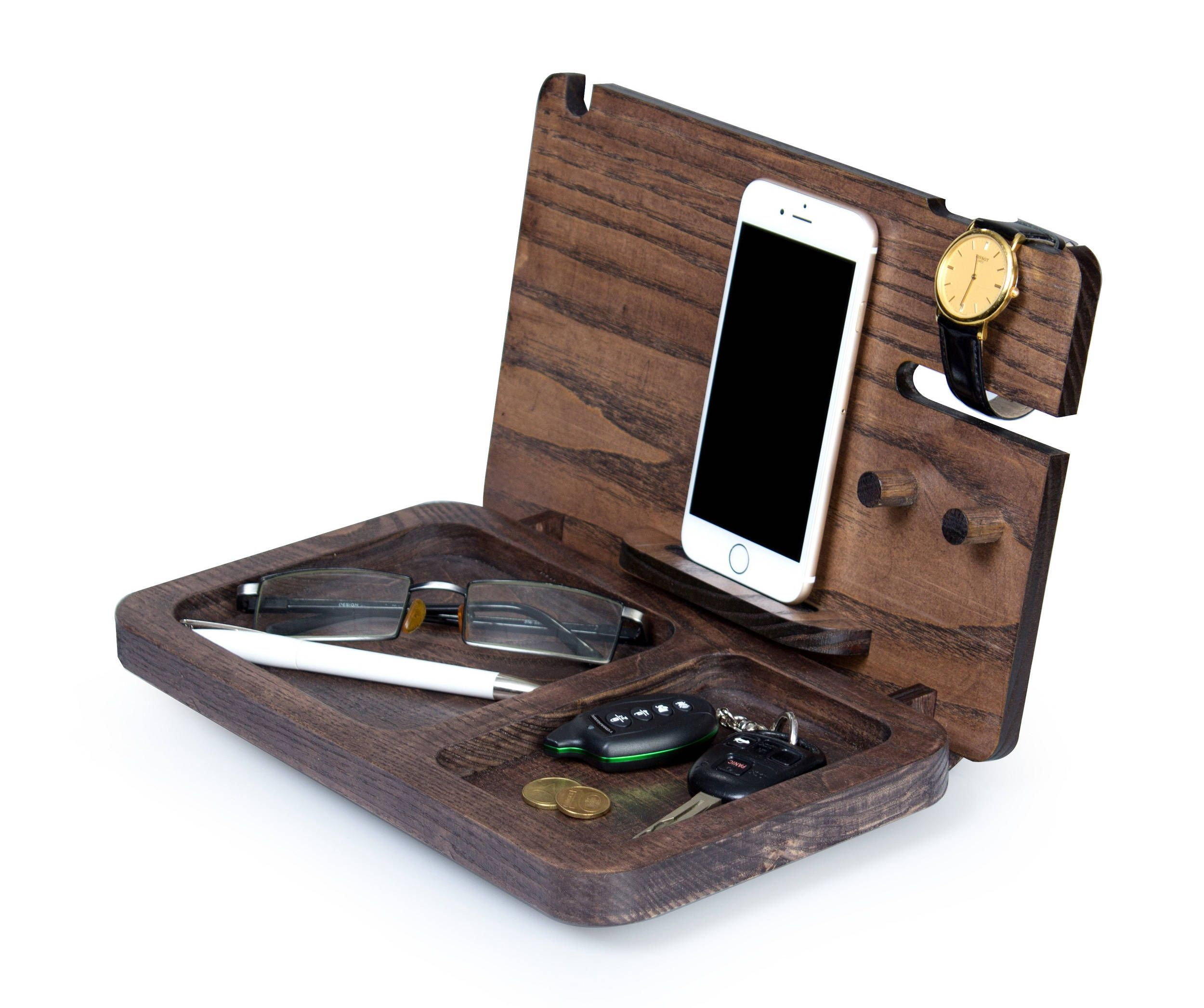 Christmas Gift for men Iphone docking station personalized   wooden ...