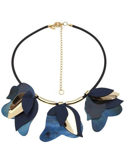 MARNI - layered leaf necklace 4 #farfetch #wonderful store