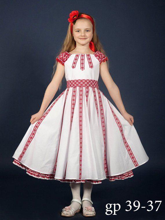 29ce4f2b5e927 SALE Ukrainian embroidery Dress for girls. Trendy dress with a belt ...