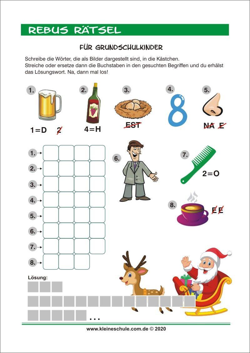 20 Kinder Rätsel   Vorlagen zum Ausdrucken Ideen in 20   mathe ...
