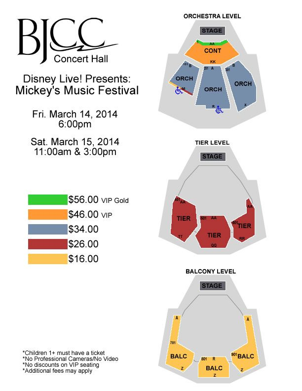 More Seating In Small Living Room: Seating Chart: Disney Live!
