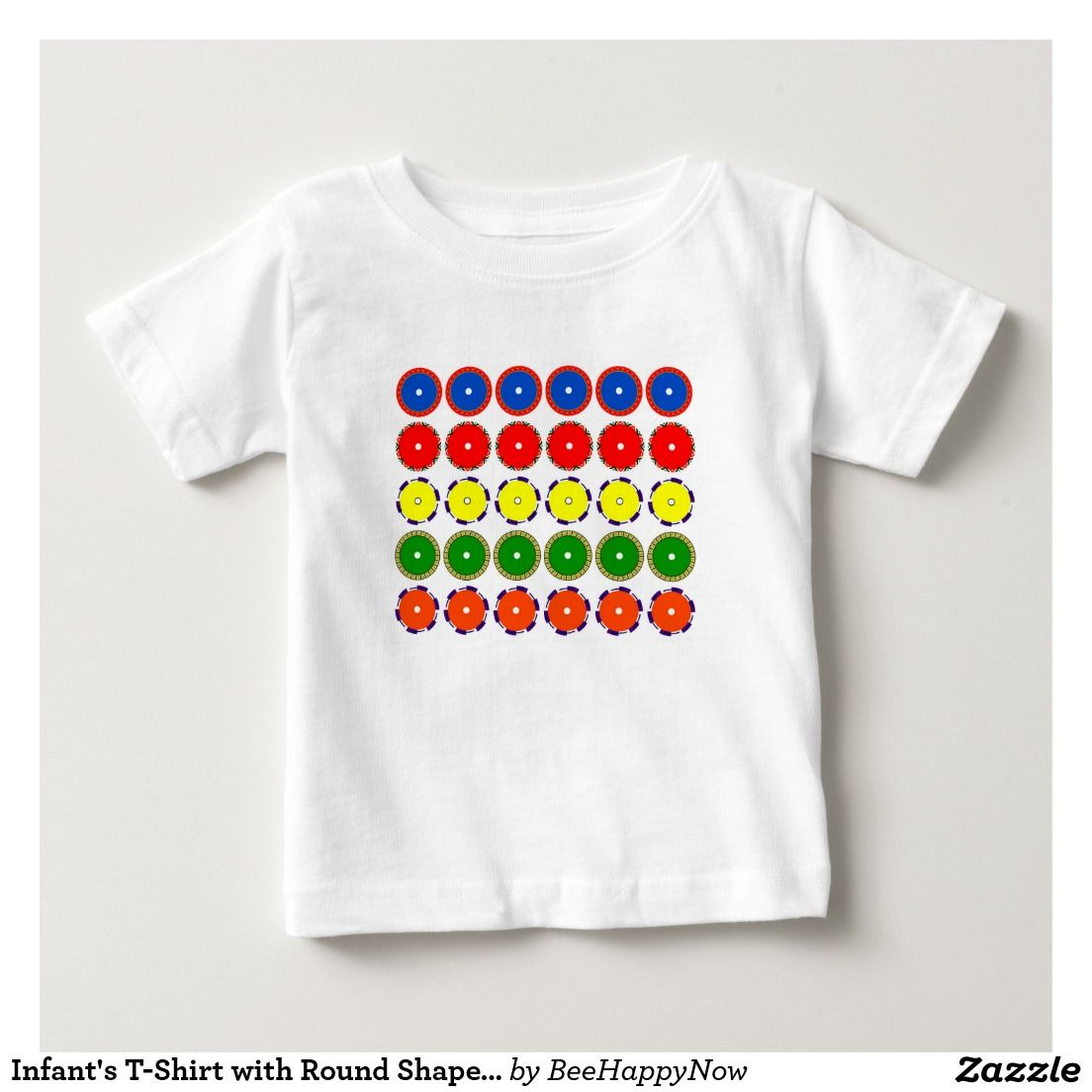 Infant's T-Shirt with Round Shapes and Colors