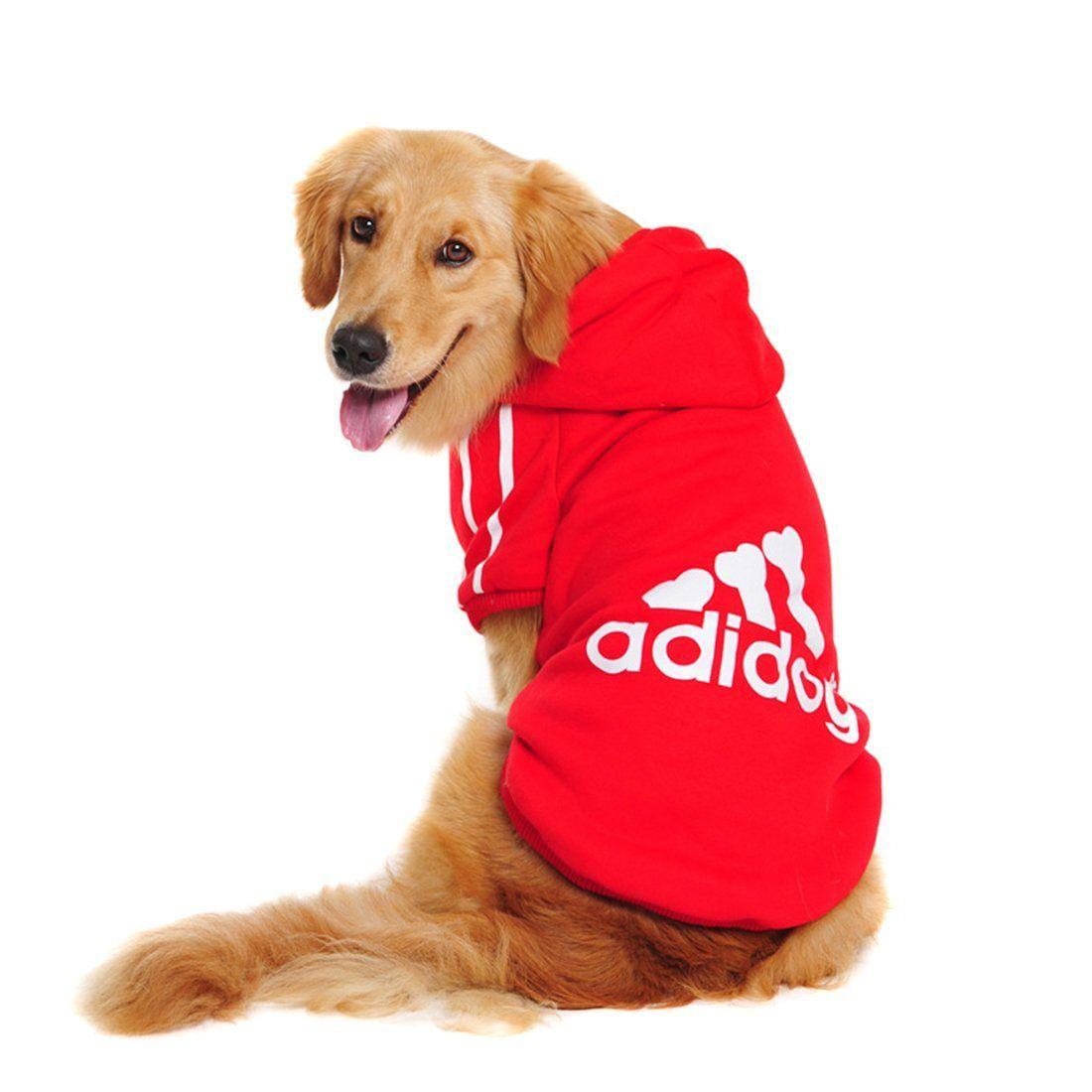 4650cd54eb92 Großen Hund Kleidung Warme Wintermantel Jacke Kleidung für Hunde Large Size Golden  Retriever Labrador 3XL-9XL Adidog Hoodie. Big Dog Clothes ...