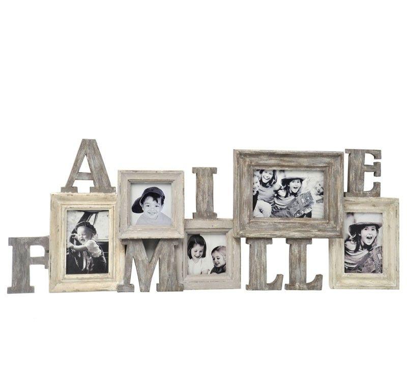 cadre photo en bois id al pour y mettre les photos de famille poser sur une commode ou. Black Bedroom Furniture Sets. Home Design Ideas