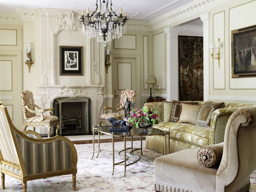 Inspiration for french country decorating. Beautiful fabrics, calm muted  colors, elegance and romance. French villa style living room by Wilson  Kelsey ...