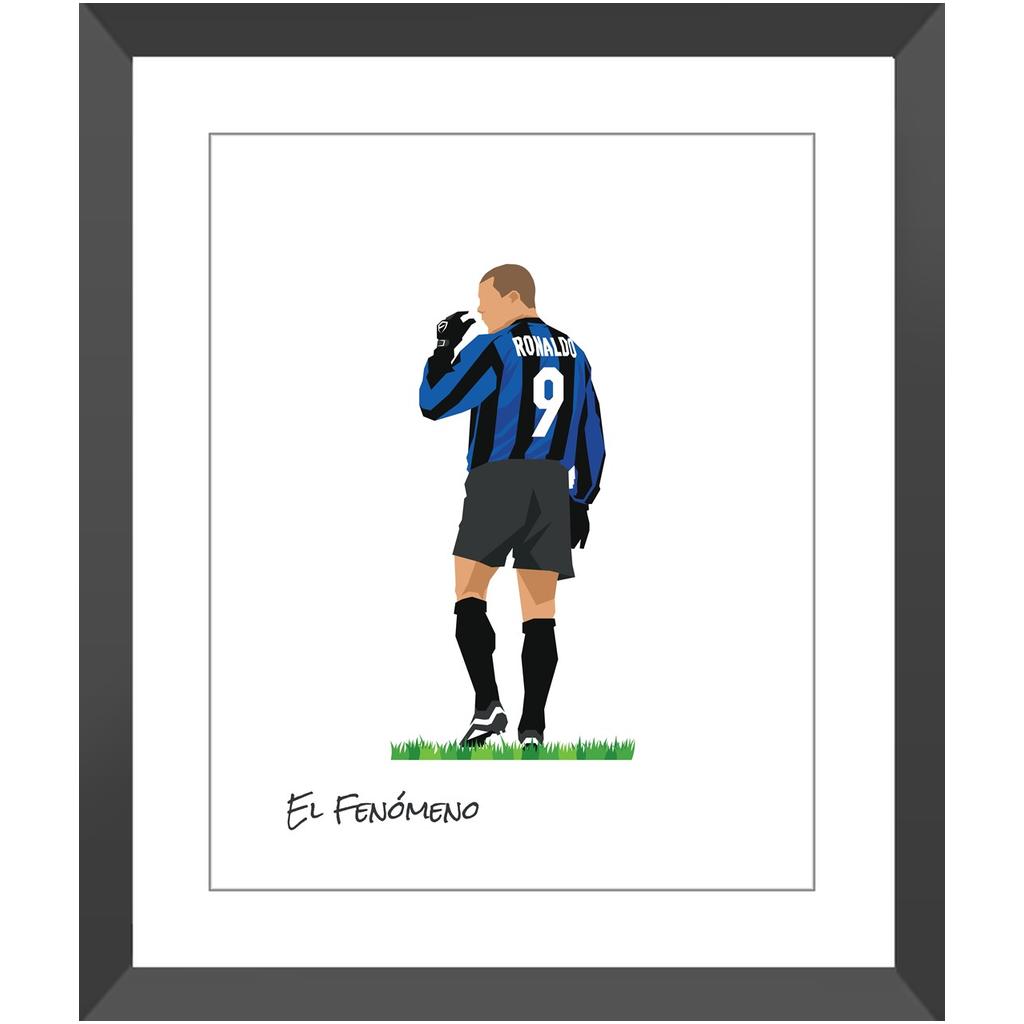 Ronaldo – Inter de Milán – 16×20″ / Black