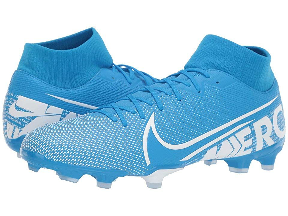 Nike Superfly 7 Academy Fg Mg Cleated Shoes Blue Hero White Obsidian Womens Soccer Cleats Blue Shoes Superfly
