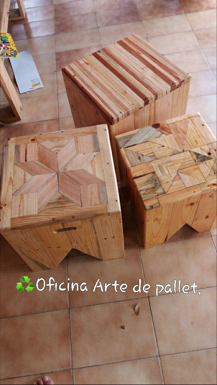 Banco volpi marchetaria oficina arte de pallet for Sillones de madera reciclada