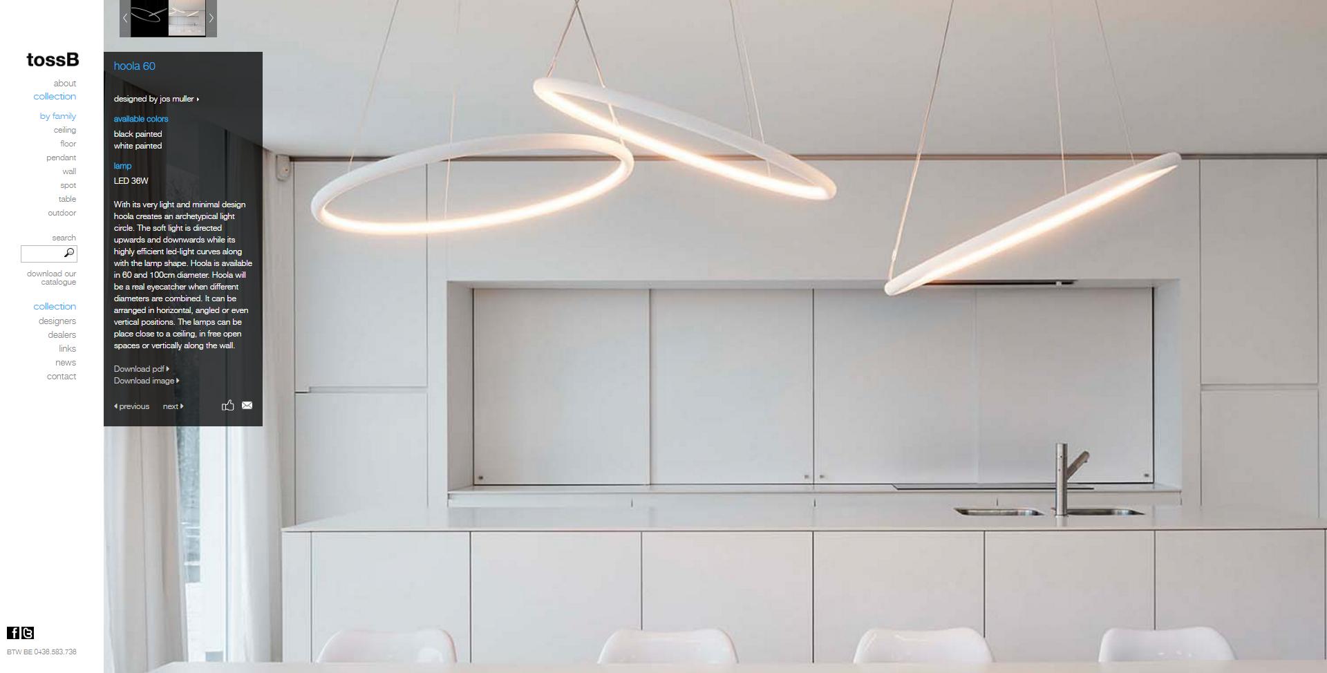 Hoola 60 Tossb Lamp Details Pictures Technical Info Architectural Led Lighting Led Lighting Solutions Pendant Lamp Design