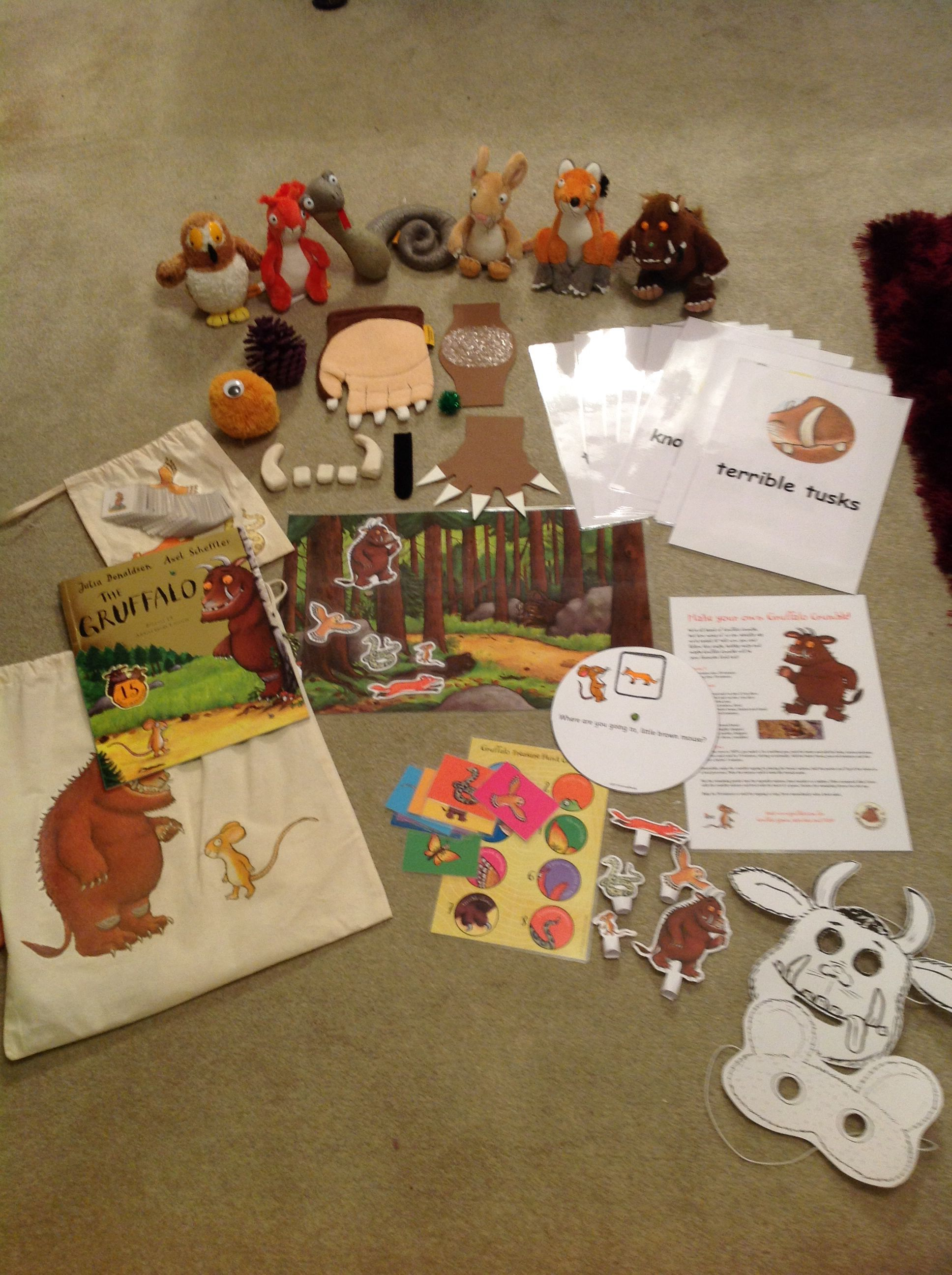 Completed Gruffalo Story Sack