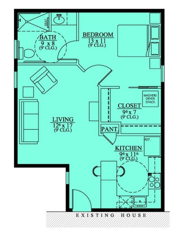654186 Handicap Accessible Mother In Law Suite House Plans Floor Plans Home Plans Plan It At Small House Floor Plans In Law House Basement House Plans