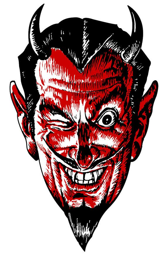 vintage victorian steampunk red winking devil vectors clip art rh pinterest com Large Winking Eye Clip Art Moving Winking Eyes Clip Art