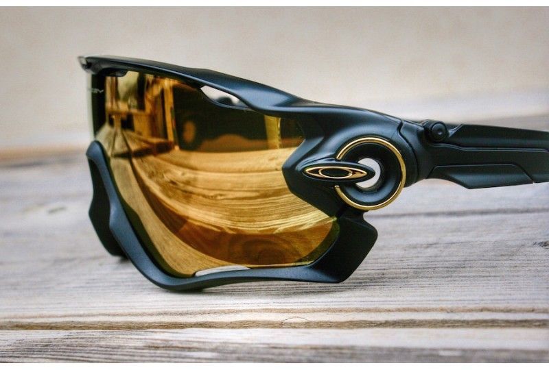 2d66df288c Jawbreaker Custom Matte Black   24k Iridium Cycling Sunglasses
